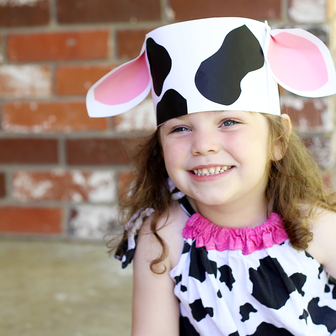 picture about Printable Cow Ears identified as Children Craft: Cow Headband Kansas Residing Journal