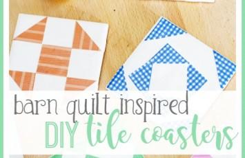 diy tile coaster barn quilt craft