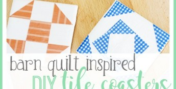 diy tile coaster barn quilt craft