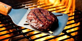 Grilling a Hamburger