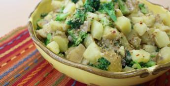 potluck tater salad with broccoli