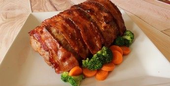 Simply Saucy Bacon-Wrapped Pork Loin Roast