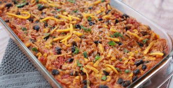 Mexican Rice Casserole with Black Beans