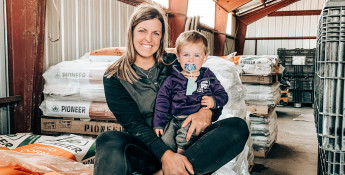 Whitney Larson and Son