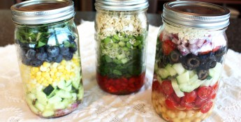 photo of jar salads