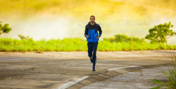 Man Running With Songs