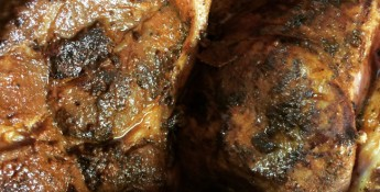 spiced and slathered pork