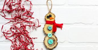 wood_slice_snowman_craft_idea
