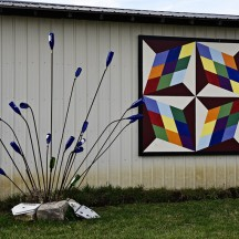 Colorful barn quilt