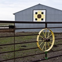 Yellow barn quilt
