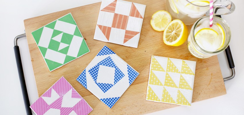 barn quilt coasters craft