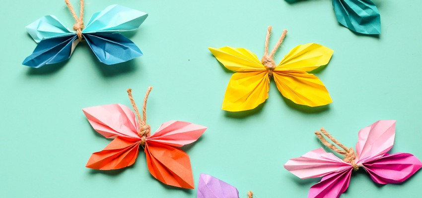 Kids Craft Paper Butterflies