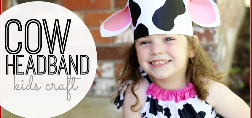 cow headband kids craft