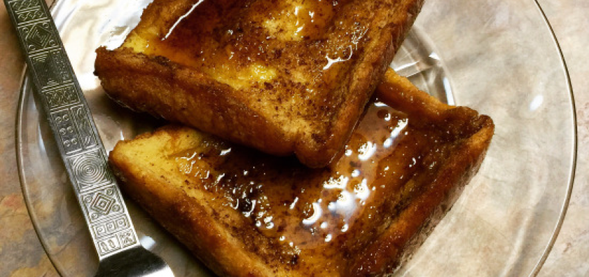 French Toast Bake on a Plate