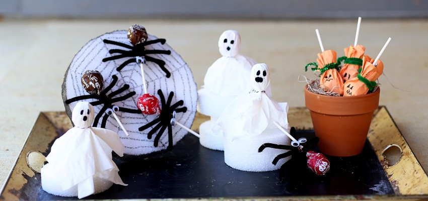 Halloween crafts with suckers
