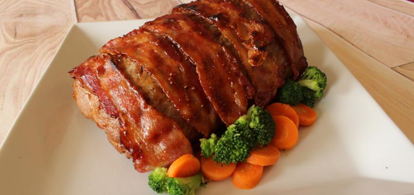 Simply Saucy Bacon-Wrapped Pork Loin Roast