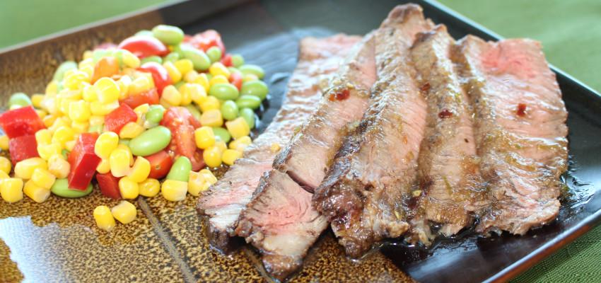 Marinated Sirloin with Edamame Succotash | Chef Alli | Kansas Living