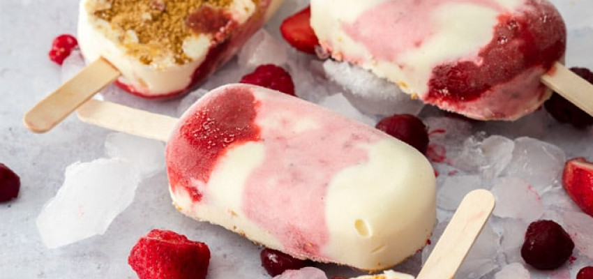 Strawberry Cheesecake Ice Cream Bars
