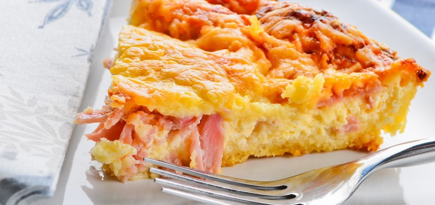 ham and swiss quiche pie