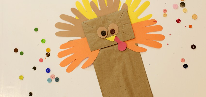 Turkey paperbag puppets