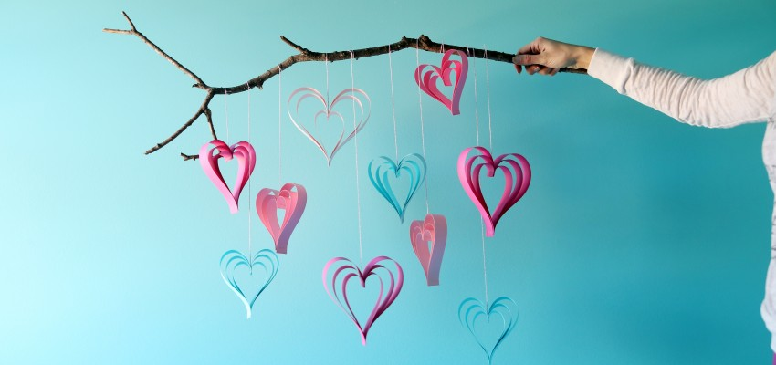 Valentine's kids heart craft
