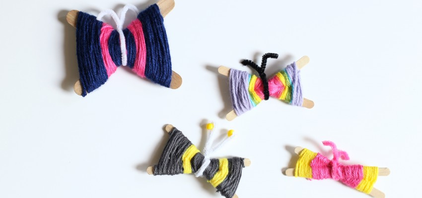 Make yarn butterflies
