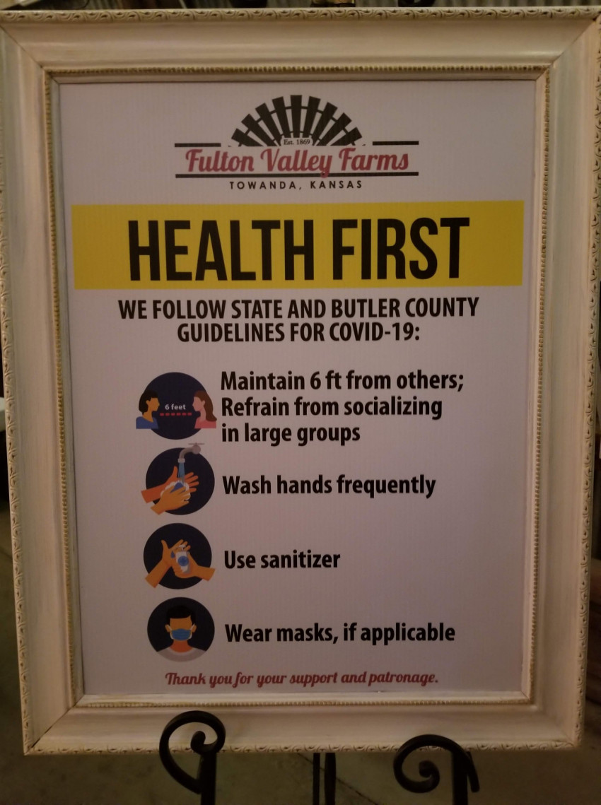 The Butler County Touchless Tour reminded participants of safety protocols.