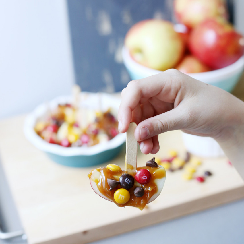 caramel apple boat snack