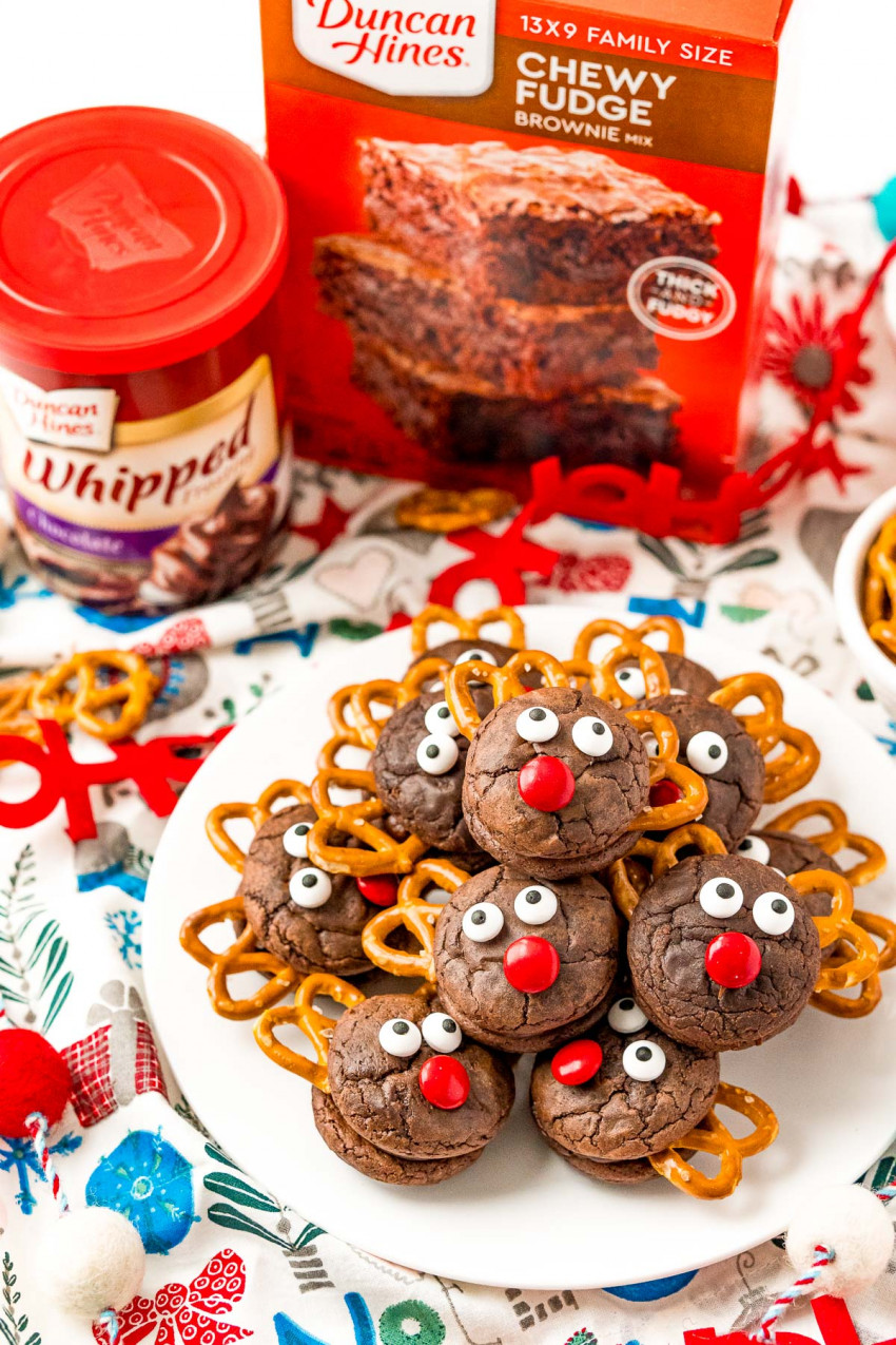 brownie reindeer cookies