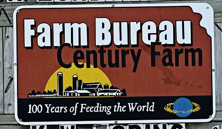 Kansas Farm Bureau Century Farm sign