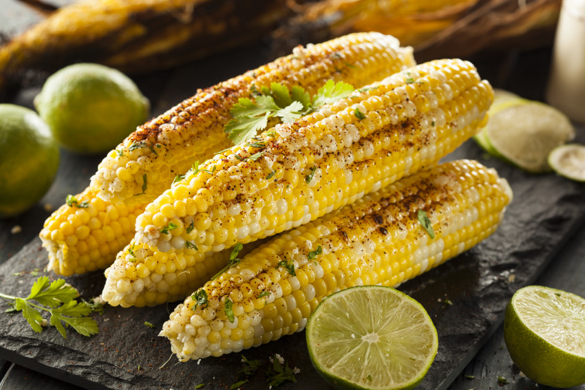 limes and sweet corn