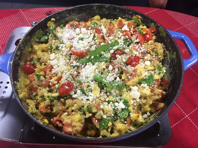 Greek scrambled egg skillet