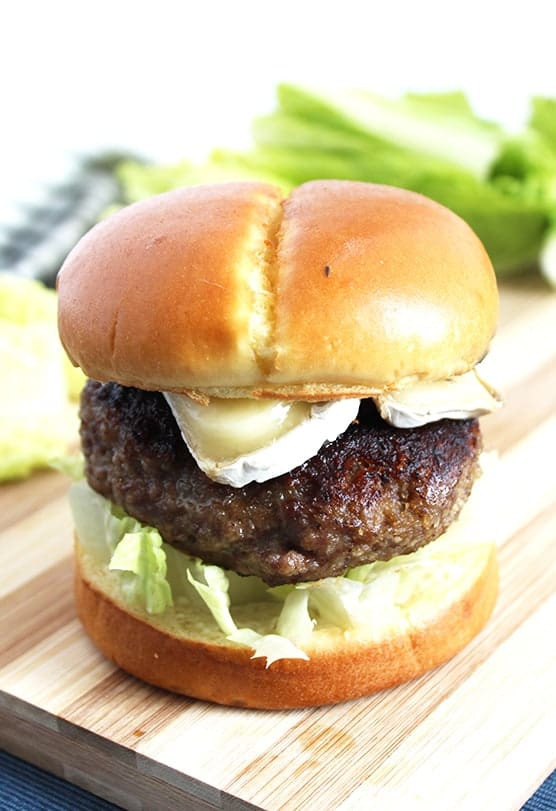 Honey and Truffle Burger with Brie