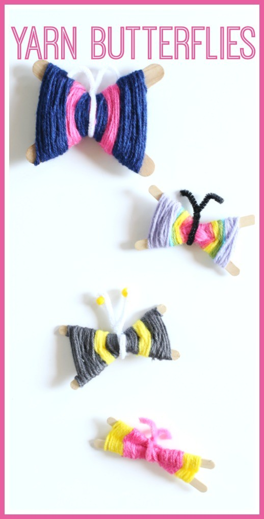 how to make yarn butterflies