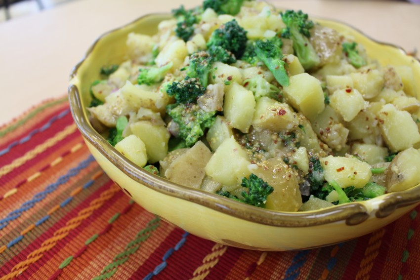 potluck tater salad with broccoli