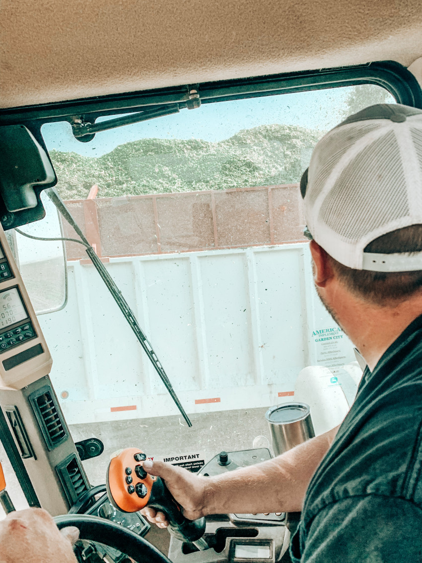 Larson in Tractor