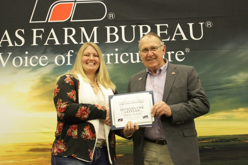 Jacquelyne Leffler Kansas Farm Bureau discussion meet winner