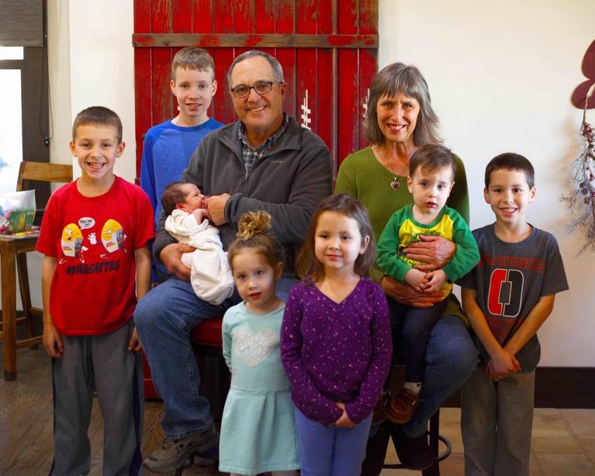 Joe and Kim Mertz with grandchildren