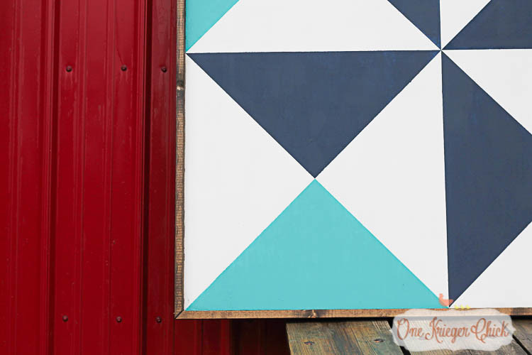 finished barn quilt