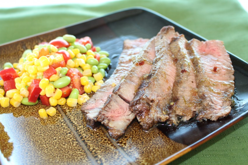 Marinated Sirloin with Edamame Succotash | Chef Alli | Kansas Living