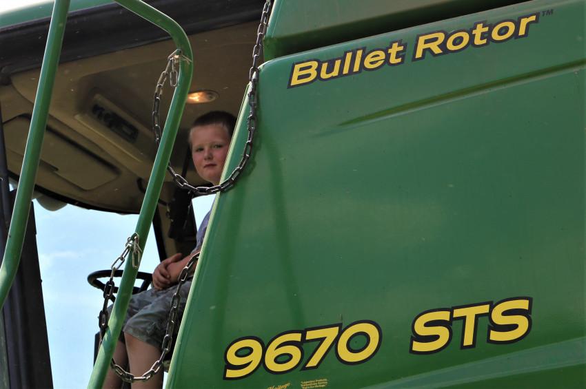 Mason Stainbrook_harvesting wheat