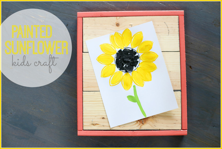 painted sunflower childrens craft