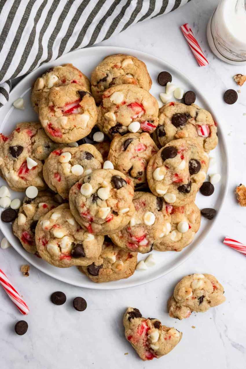 peppermint chip cookies