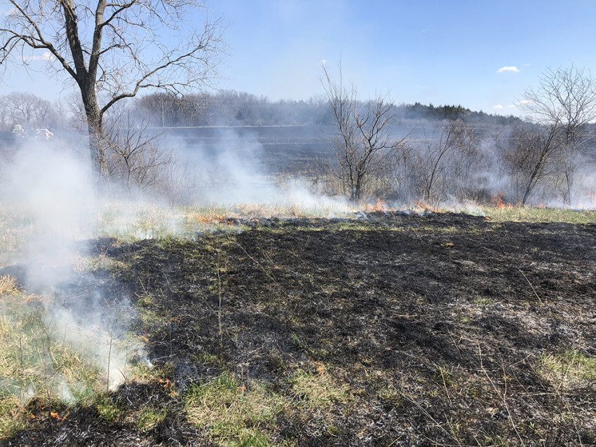 Prescribed burning in Kansas
