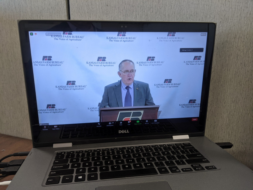 Rich Felts during KFB's virtual annual meeting