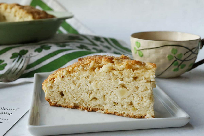 Irish apple cream scones