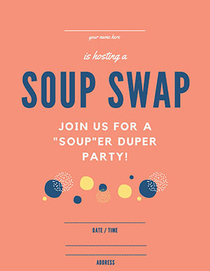 Soup Swap invite