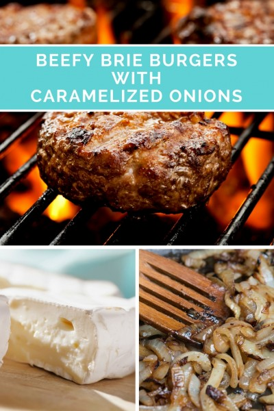 Beefy Brie Burgers with Caramelized Onions. Your next best hamburger.
