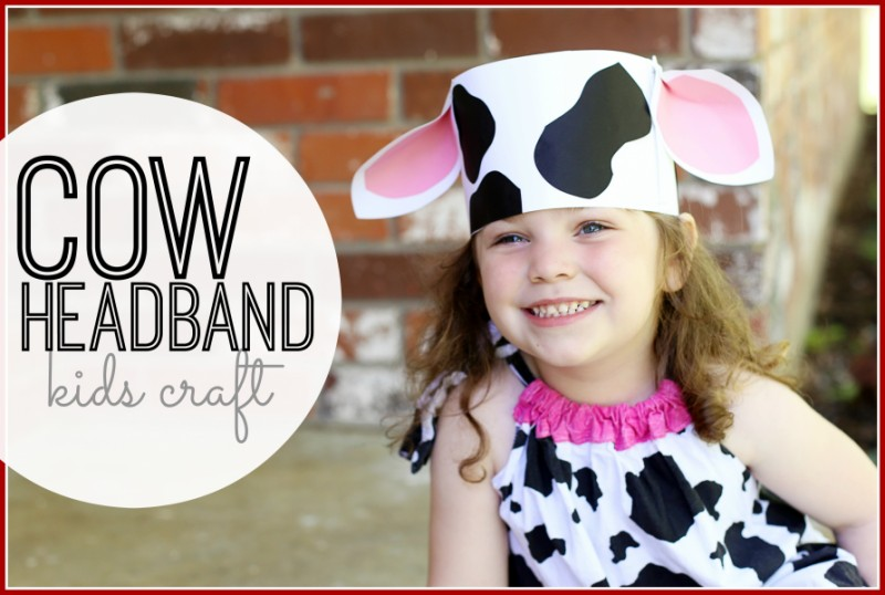 photograph relating to Printable Cow Ears called Little ones Craft: Cow Headband Kansas Residing Journal
