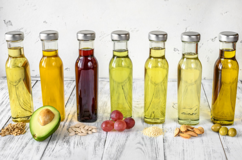 Cooking Oils Lined Up